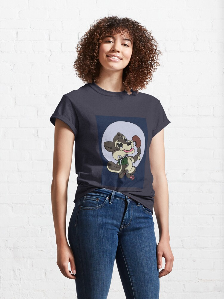 Alternate view of Happy Wolf  Classic T-Shirt