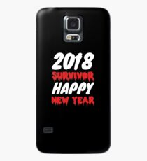 2018 Survivor Happy New Year 2019 Tee New Years Eve T-Shirt Case/Skin for Samsung Galaxy