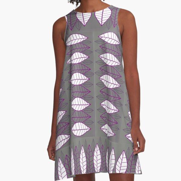 Purple leaves alum revisited A-Line Dress