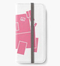 pink pig geometry iPhone Wallet/Case/Skin