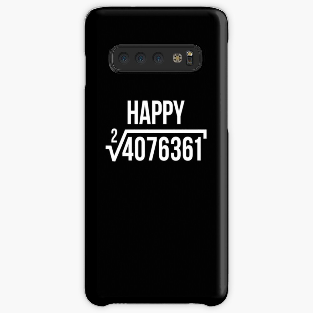 Square Root of 4076361 Happy 2019 Tee New Years Eve T-Shirt Case & Skin for Samsung Galaxy