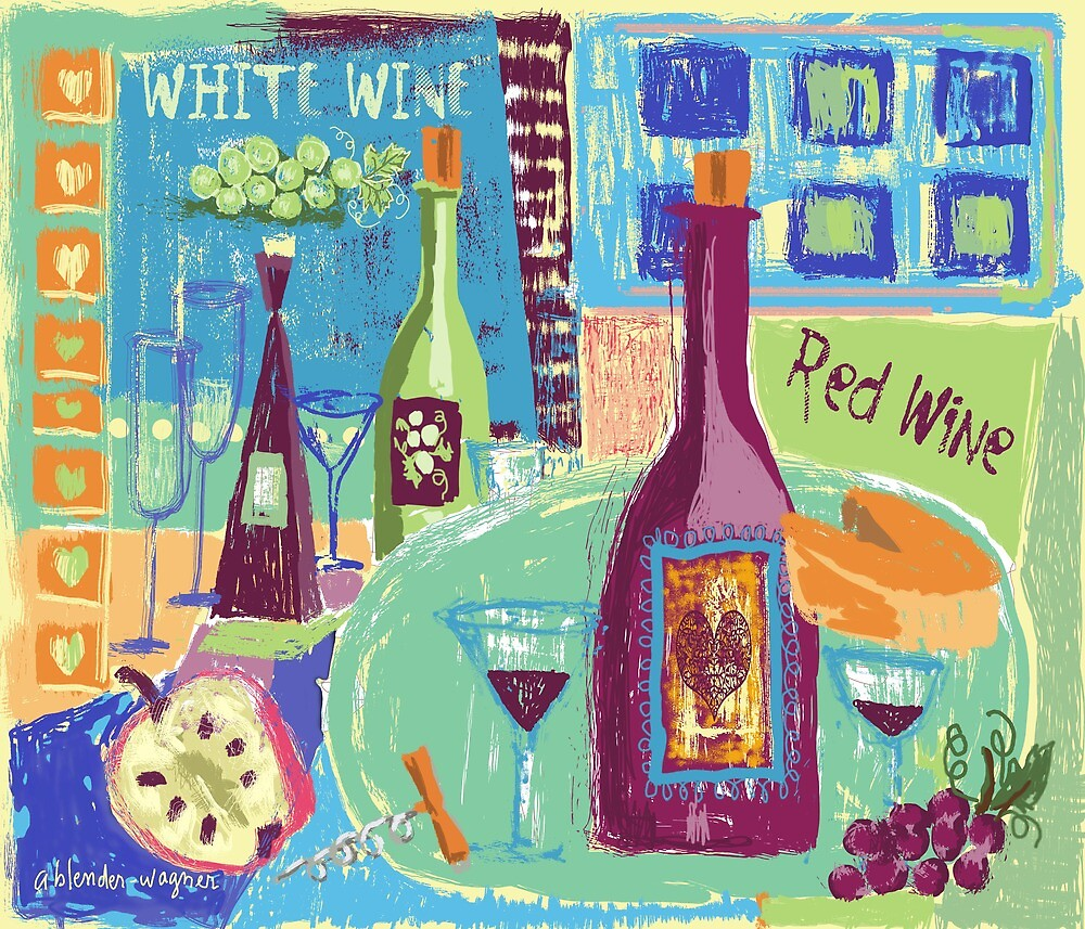The Love Of Wine by arline wagner