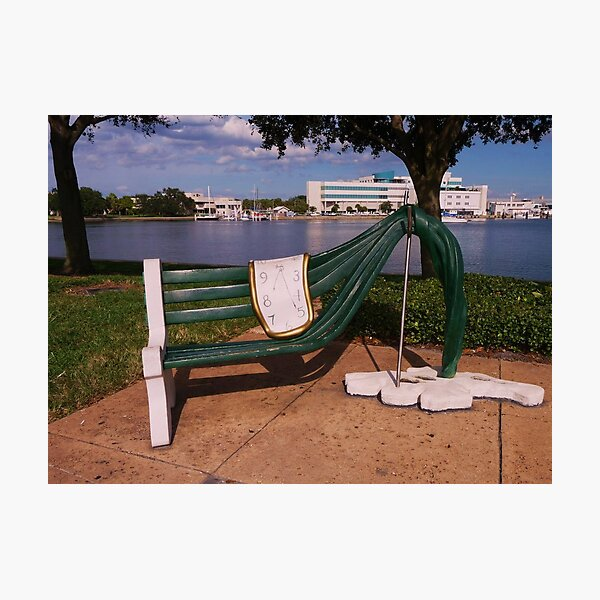 Bench at the Salvador Dali Museum Photographic Print