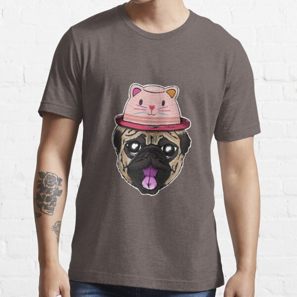 Pugs Life - Dog with Cat Hat Essential T-Shirt