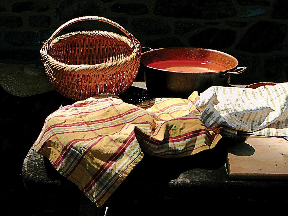 Basket and Pot of Soup by Susan Savad