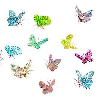 butterflies by autrouvetout