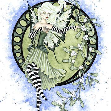 Mistletoe Fairy by AmyBrownArt