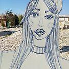 Beautiful Girl Doodle Collage Art by IvanaKada