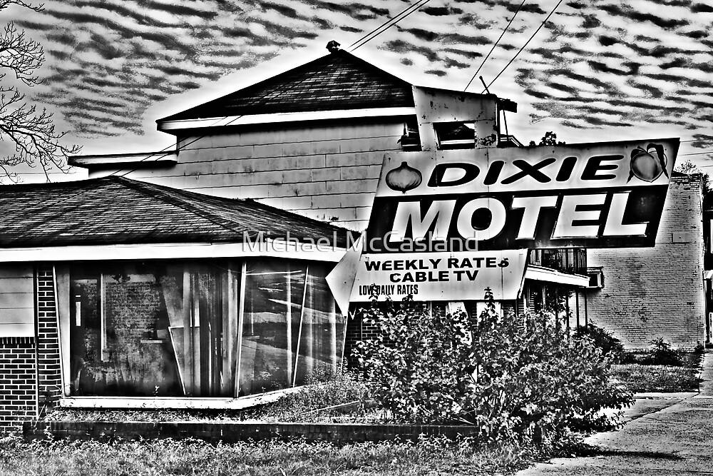 Dixie Motel B&W by Michael McCasland