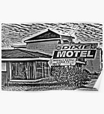 Dixie Motel B&W Poster