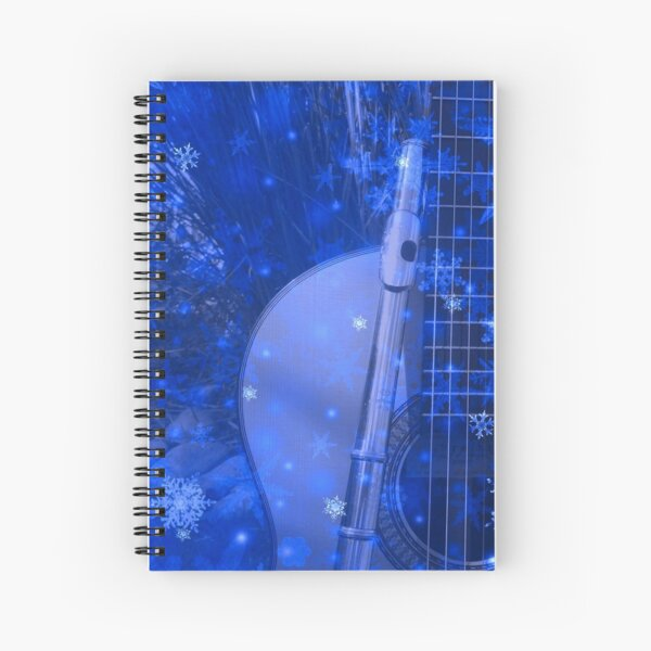 Musical Snowflakes Spiral Notebook