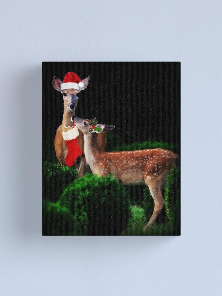 Alternate view of Christmas Deer Canvas Print