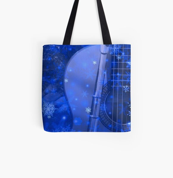 Musical Snowflakes All Over Print Tote Bag