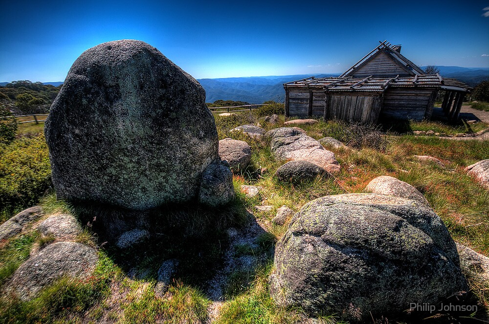 Up By Snowy River Up By Kosciusko's side, - Craigs Hut Mt Sterling - The HDR Experience by Philip Johnson