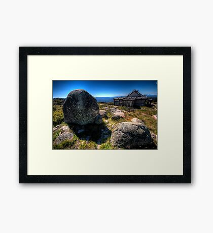 Up By Snowy River Up By Kosciusko's side, - Craigs Hut Mt Sterling - The HDR Experience Framed Print
