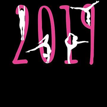 2019 Gymnastics New Year Gymnast Tee New Years Eve T-Shirt by davdmark