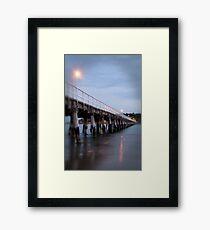 jetty light Framed Print