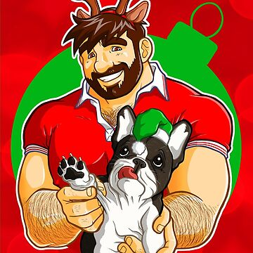XMAS - ADAM LIKES FRENCHIES - FOR RED TEE by bobobear