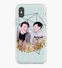Dan and Phil Pastel Floral & Constellation Print iPhone Case