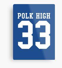 Al Bundy 33 Polk High School Football Metal Print