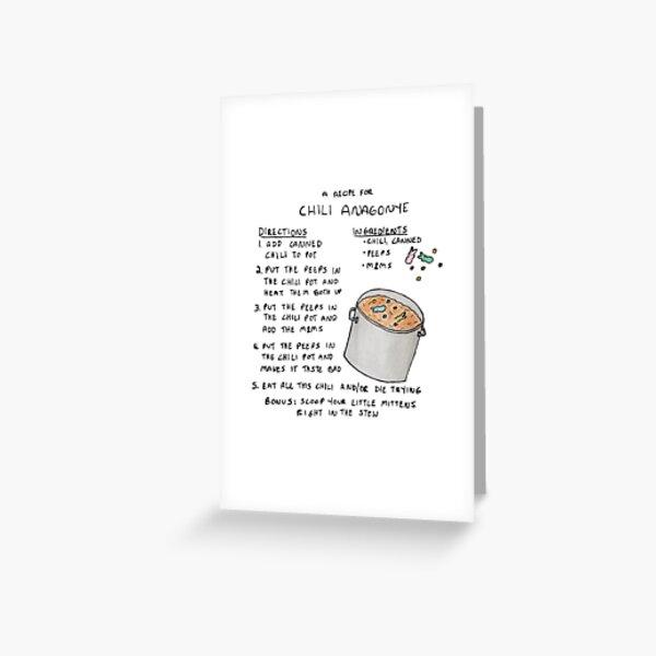 The Good Place - une recette de Chili Anagonye Carte de vœux