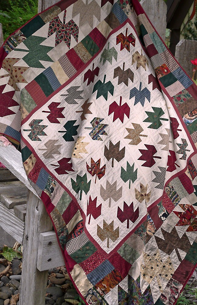 maple leaf quilt by tego53