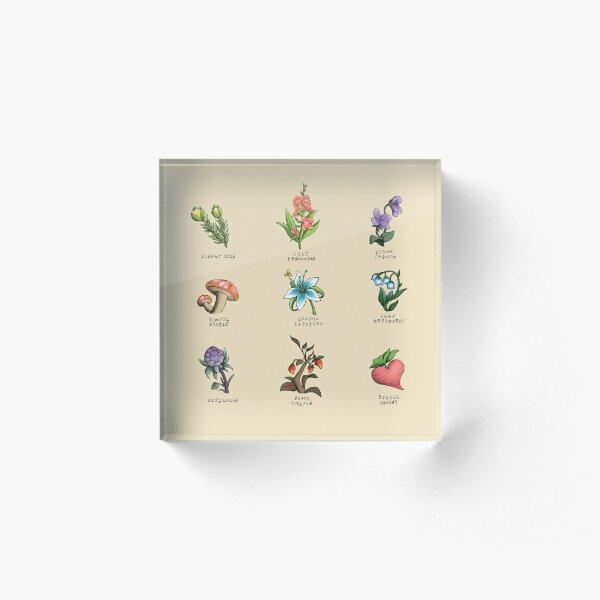 Legendary Flora Acrylic Block