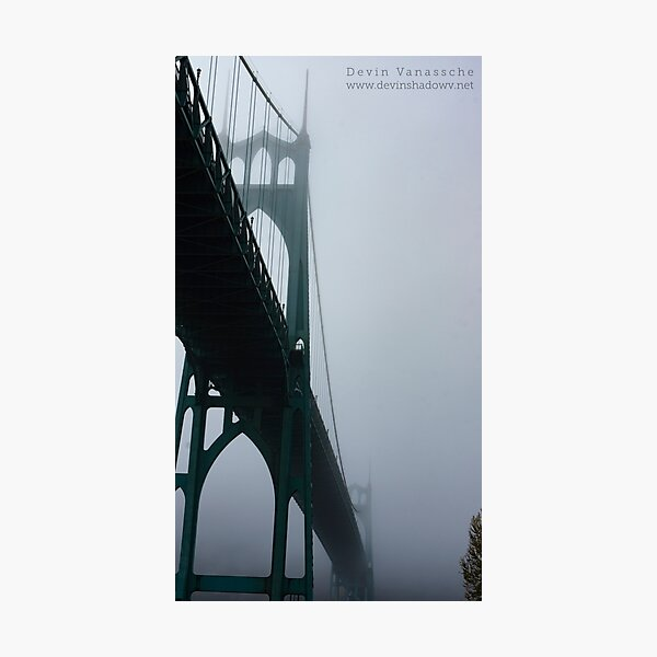 St. John foggy bridge Photographic Print