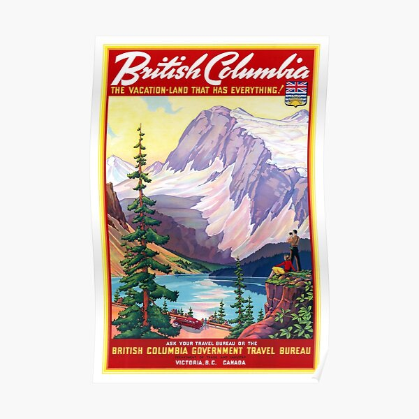 Canada British Columbia Vintage Poster Restored Poster