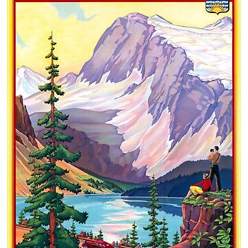 Canada British Columbia Vintage Poster Restored by vintagetreasure