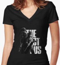 The Last Of Us - Ellie and Joel Design Women's Fitted V-Neck T-Shirt