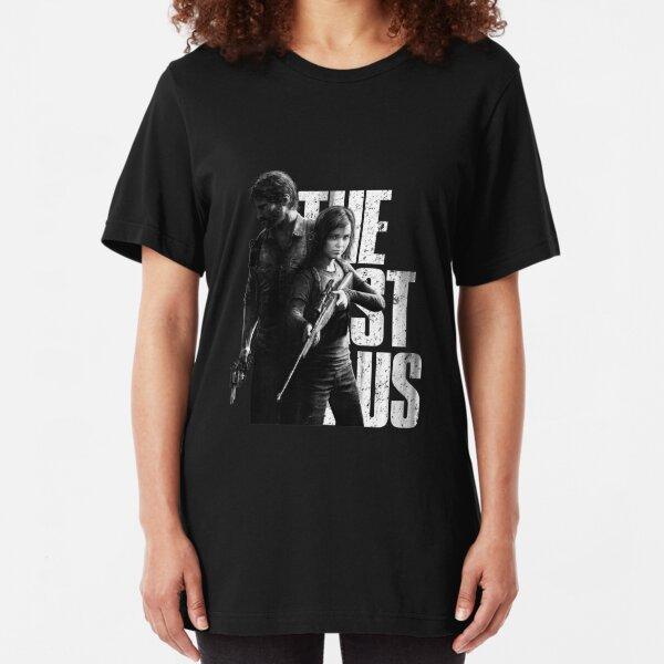 The Last Of Us - Ellie and Joel Design Slim Fit T-Shirt