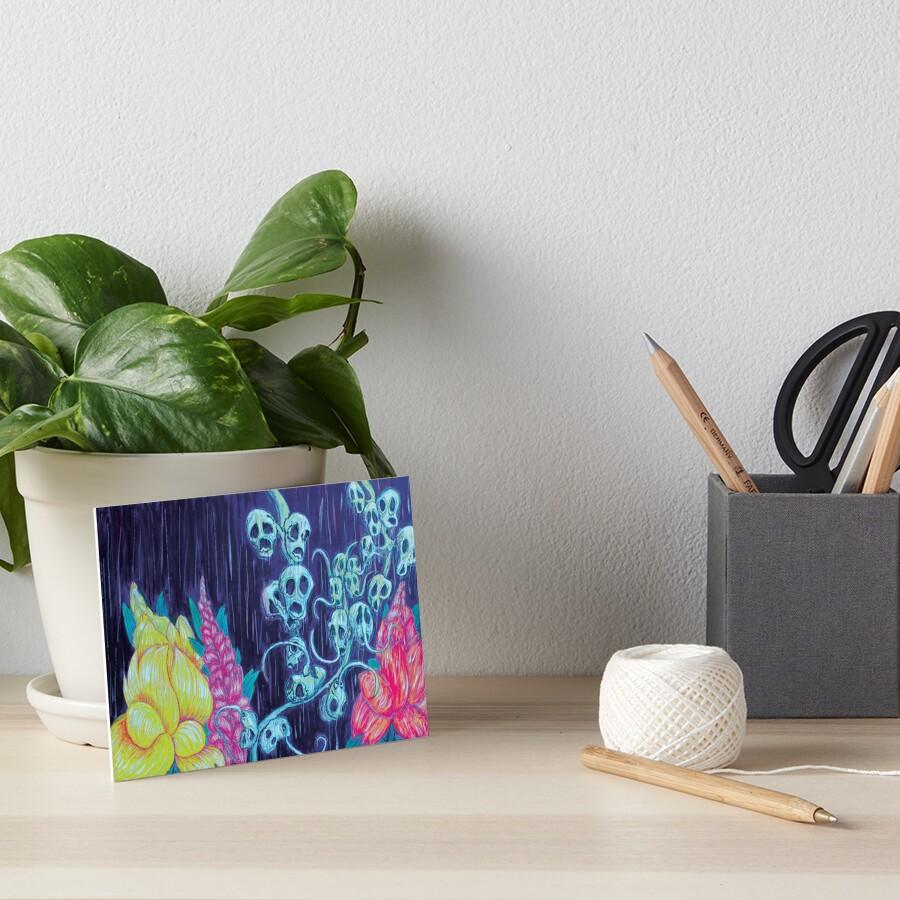 Floral Hellscape I Art Board Print