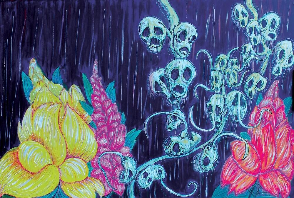 Floral Hellscape I by GroglioArt