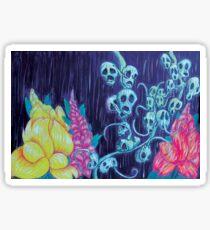 Floral Hellscape I Sticker