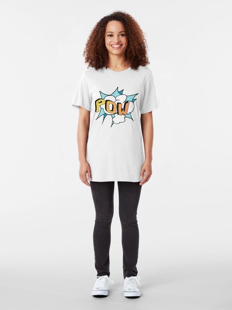 Alternate view of POW Personal Superhero Logo Slim Fit T-Shirt