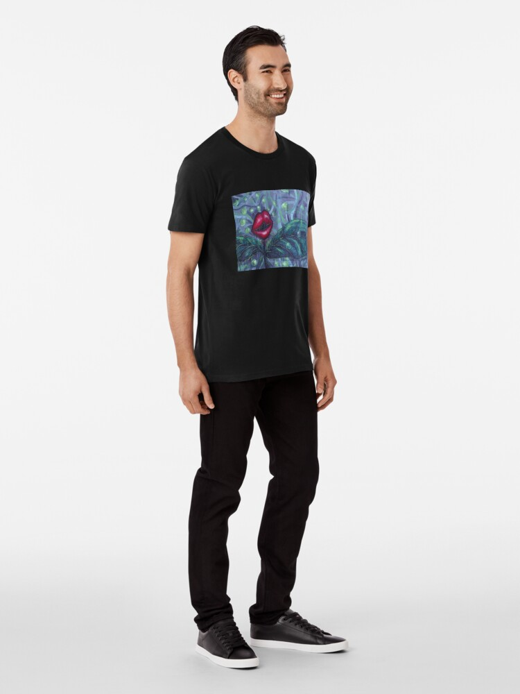 Alternate view of Floral Hellscape IV Premium T-Shirt