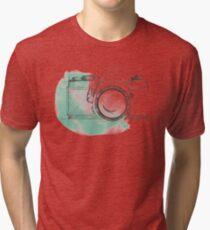 VINTAGE SLR CAMERA SKETCH ILLUSTRATION Tri-blend T-Shirt