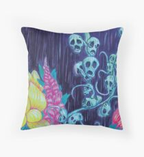Floral Hellscape I Throw Pillow