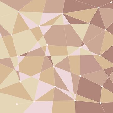 Abstract random geometric pattern Orange/brown by Russell102