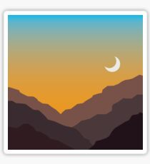 """""""Canyon Moon"""" - Cold October Sticker"""