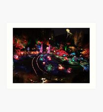 Night in the Sunken Garden(2) Art Print