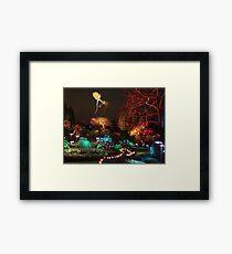 Night in the Sunken Garden (3) Framed Print