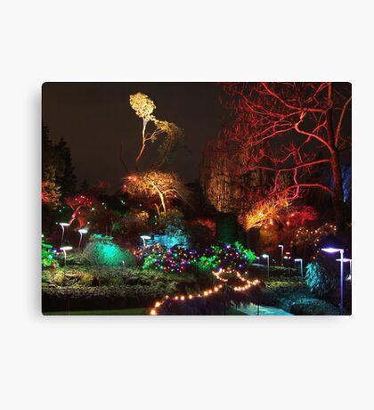 Night in the Sunken Garden (3) Canvas Print