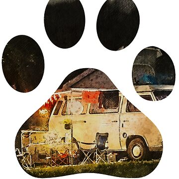 Dogs and Camping Lovers- Dog paw camping best gift by kimoufaster