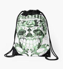 Wisconsin Skinny Sugar Skull Drawstring Bag