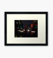 Night in the Sunken Garden (5) Framed Print