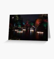 Night in the Sunken Garden (5) Greeting Card