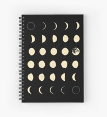 Moon Phases Spiral Notebook