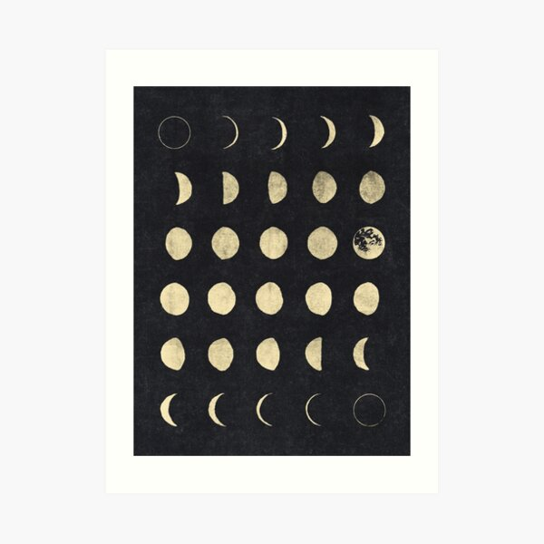 Fases de la luna Lámina artística